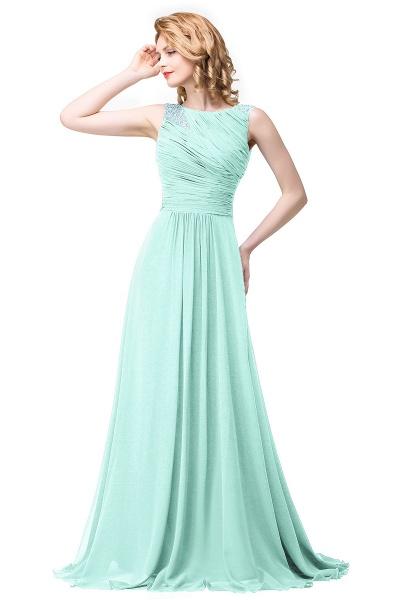 Excellent Bateau Chiffon A-line Evening Dress_3