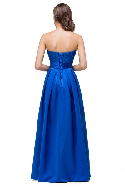 Strapless Taffeta A-line Floor Length Bridesmaid Dress_7
