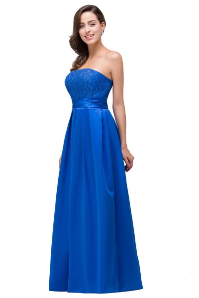 Strapless Taffeta A-line Floor Length Bridesmaid Dress_4