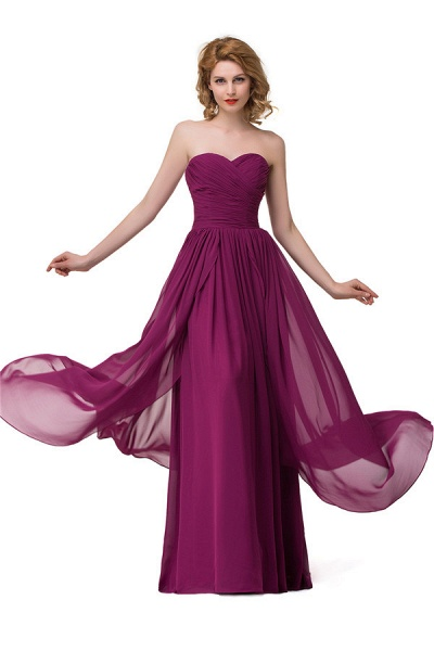 Sweetheart A-line Floor Length Bridesmaid Dress_7