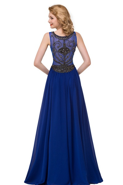 Beautiful Jewel Chiffon A-line Evening Dress_8