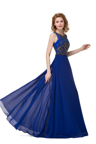 Beautiful Jewel Chiffon A-line Evening Dress_6
