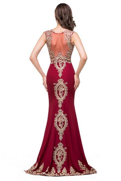 Eye-catching Jewel Taffeta Mermaid Evening Dress_8