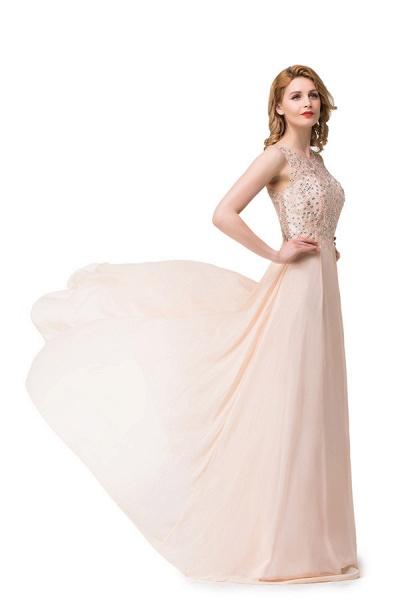 Chic Jewel Chiffon A-line Evening Dress_4