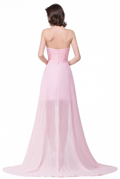 Sweetheart Chiffon A-line Hilo Bridesmaid Dress_8