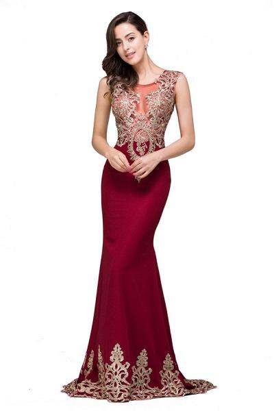 Eye-catching Jewel Taffeta Mermaid Evening Dress_1