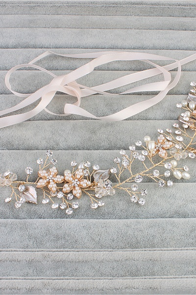 Glamourous Alloy&Imitation Pearls Special Occasion&Party Headbands Headpiece with Rhinestone_5