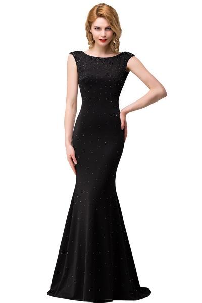 Precious Bateau Satin Mermaid Evening Dress_1