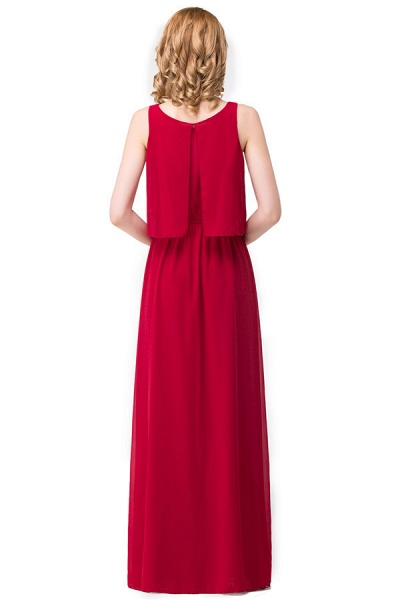 Square Chiffon A-line Floor Length Bridesmaid Dress_8