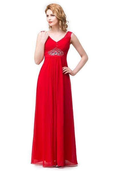 V-neck Chiffon A-line Knee Length Bridesmaid Dress_6