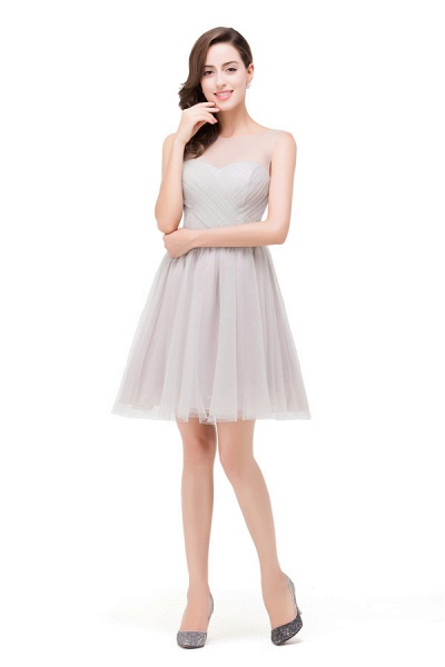 Chiffon A-line Mini Bridesmaid Dress_7