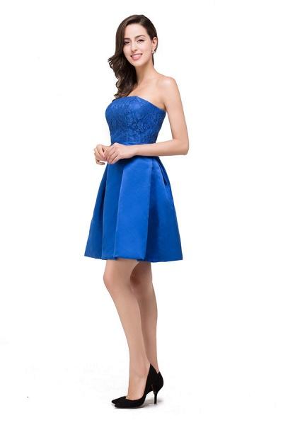Strapless A-line Mini Bridesmaid Dress_7