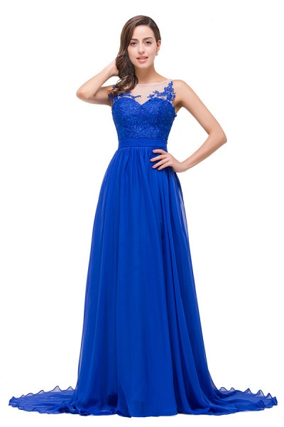 Chiffon A-line Floor Length Bridesmaid Dress_1