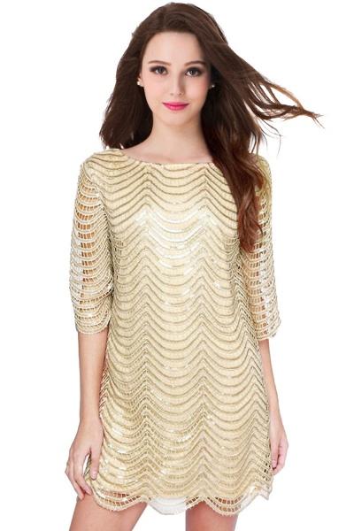 Black Long Sleeve Short Casual Dress_1