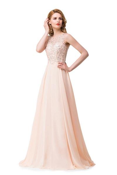 Chic Jewel Chiffon A-line Evening Dress_6