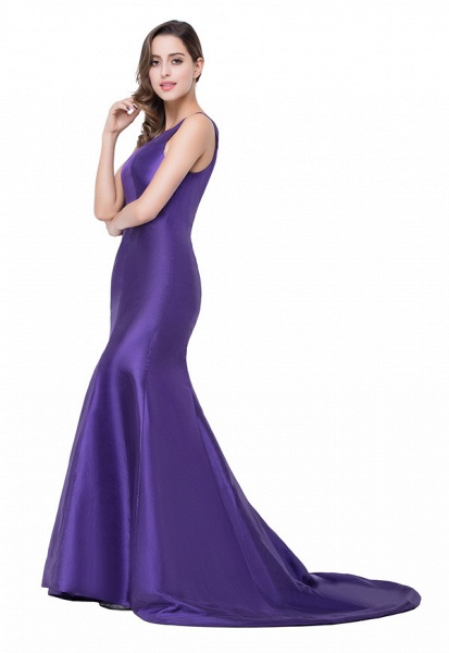 One Shoulder Mermaid Floor Length Bridesmaid Dress_8