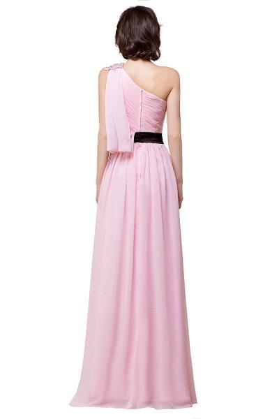 One Shoulder Chiffon A-line Floor Length Bridesmaid Dress_8