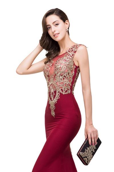 Eye-catching Jewel Taffeta Mermaid Evening Dress_7