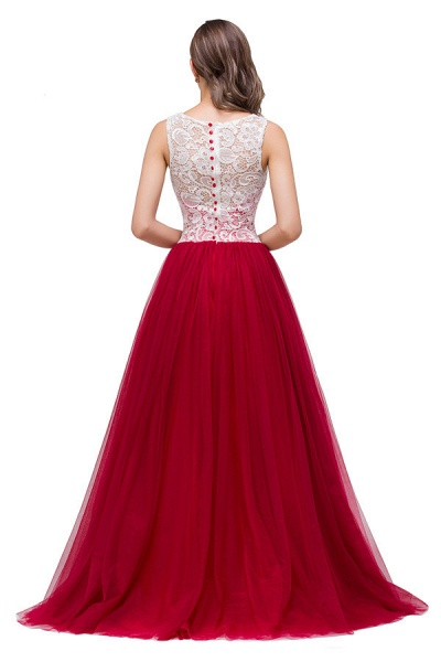 Lace A-line Floor Length Bridesmaid Dress_9