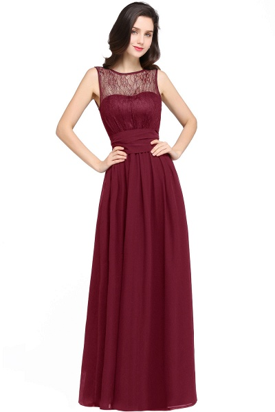 CHARLOTTE |A-line Floor-length Chiffon Sexy Black Prom Dress_1