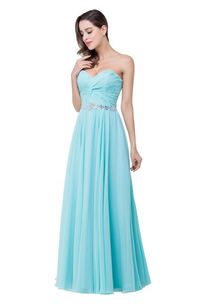 Strapless Chiffon A-line Floor Length Bridesmaid Dress_4