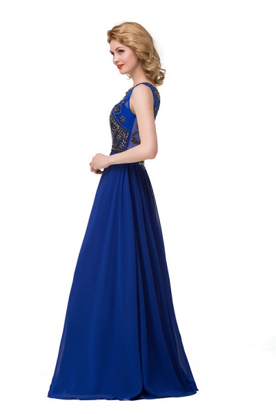 Beautiful Jewel Chiffon A-line Evening Dress_7