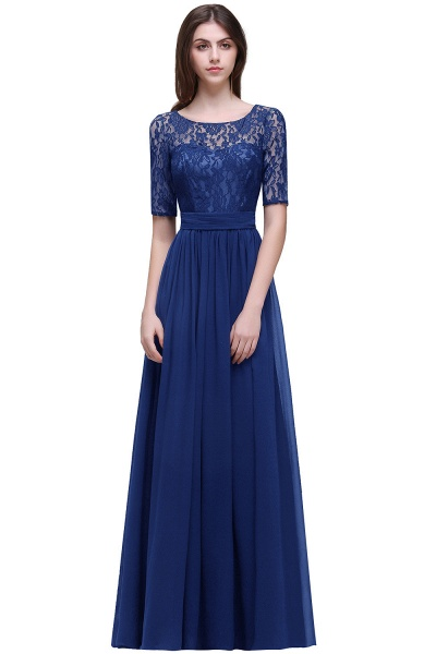 Fascinating Jewel Chiffon A-line Evening Dress_5