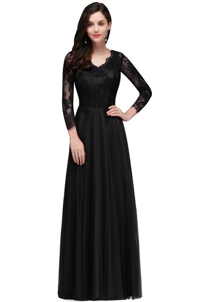 Marvelous V-neck Tulle A-line Prom Dress_2