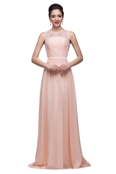 Chiffon A-line Floor Length Bridesmaid Dress_4