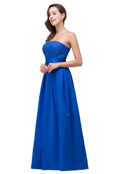 Strapless Taffeta A-line Floor Length Bridesmaid Dress_6