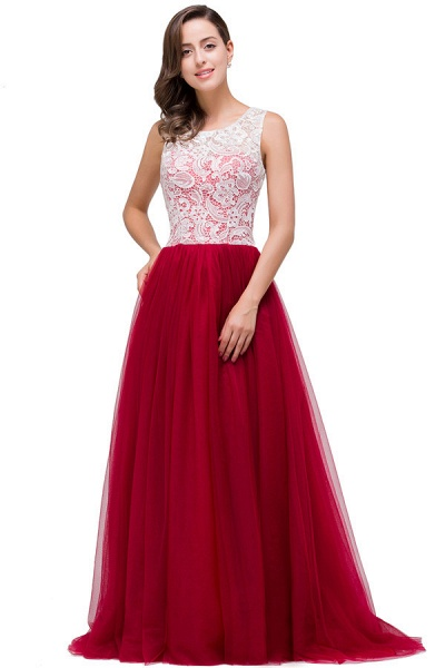 Lace A-line Floor Length Bridesmaid Dress_7