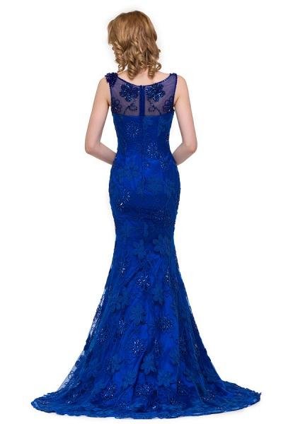 Modest Jewel Taffeta Mermaid Evening Dress_8