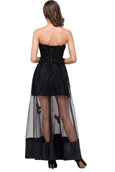 Fascinating Strapless Tulle A-line Evening Dress_8