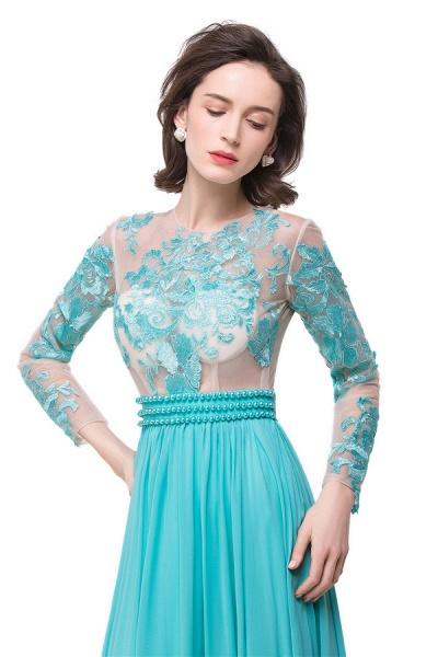 Eye-catching Jewel Chiffon A-line Evening Dress_6
