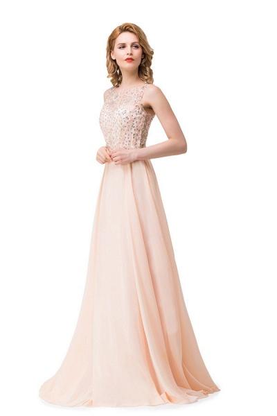 Chic Jewel Chiffon A-line Evening Dress_7