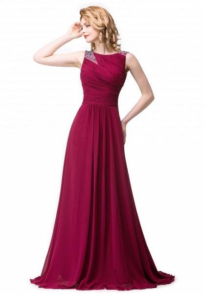 Excellent Bateau Chiffon A-line Evening Dress_1