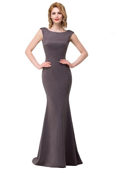 Precious Bateau Satin Mermaid Evening Dress_2