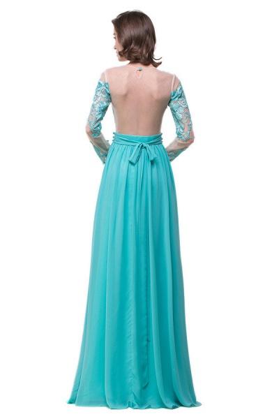 Eye-catching Jewel Chiffon A-line Evening Dress_8