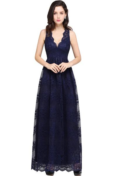 Amazing V-neck Lace Column Bridesmaid Dress_6