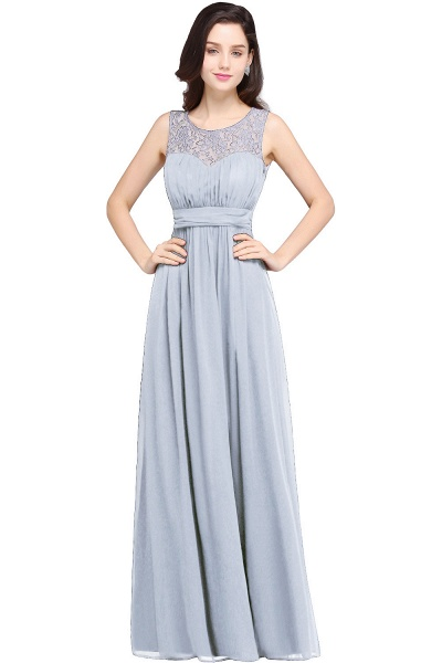 CHELSEA | Sheath Round neck Floor-length Navy Blue Prom Dress_4