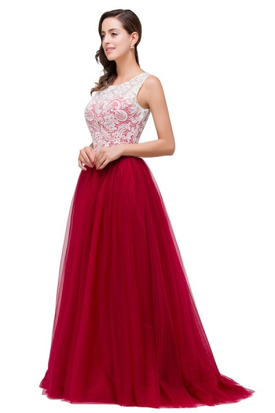Lace A-line Floor Length Bridesmaid Dress_6