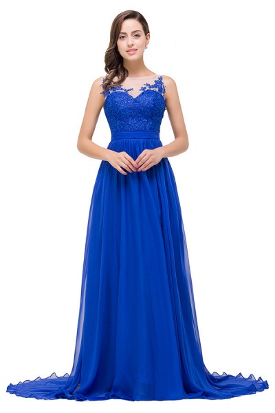 Chiffon A-line Floor Length Bridesmaid Dress_3