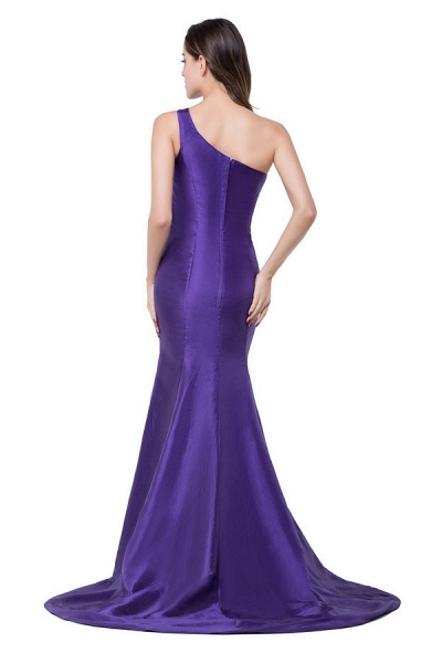 One Shoulder Mermaid Floor Length Bridesmaid Dress_9