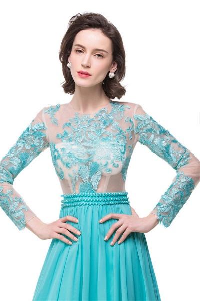 Eye-catching Jewel Chiffon A-line Evening Dress_7