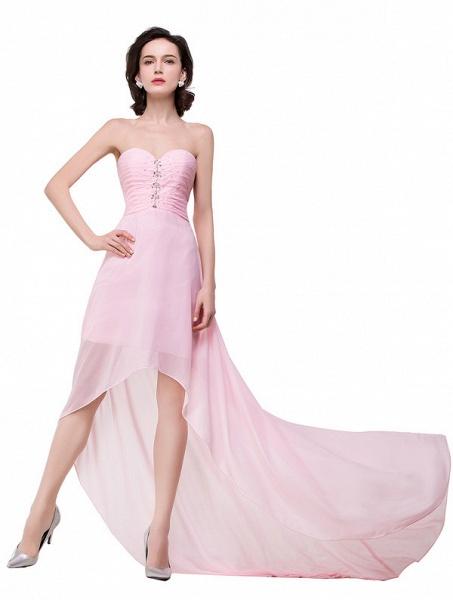 Sweetheart Chiffon A-line Hilo Bridesmaid Dress_5