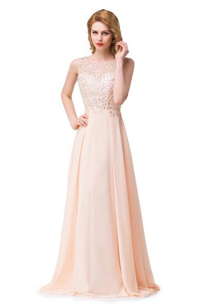 Chic Jewel Chiffon A-line Evening Dress_5