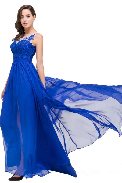 Chiffon A-line Floor Length Bridesmaid Dress_7