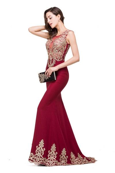 Eye-catching Jewel Taffeta Mermaid Evening Dress_4