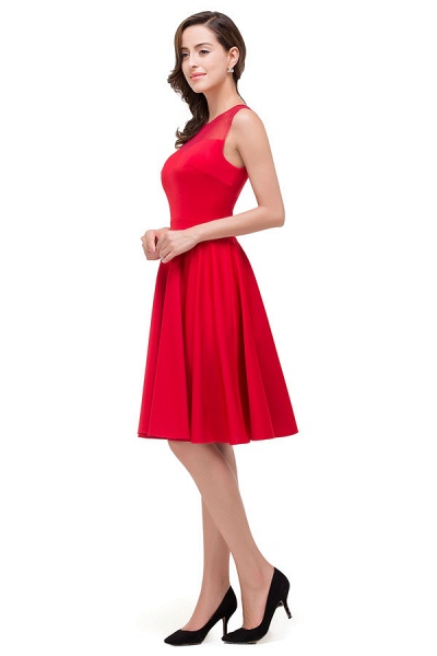 Chiffon A-line Knee Length Bridesmaid Dress_7