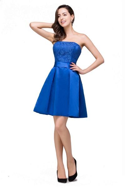 Strapless A-line Mini Bridesmaid Dress_1